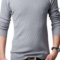 V-Neck Ribbed Trim Knitted Pullover Sweater