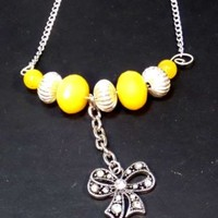 Yellow Bow Necklace - LinorStore Jewelry & Kippah