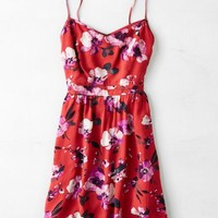 AEO Women's Bright Floral Fit & Flare Dress