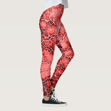 Red lightning bloody bolts pattern scarlet thunder leggings