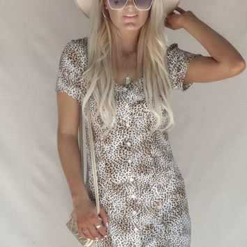 AMUSE SOCIETY Iman Leopard Dress