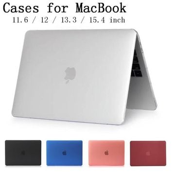 New Laptop Case Cover For Apple macbook Air Pro Retina 11 12 13.3 15 For Mac book Pro 13 15 inch with Touch Bar A1706/A1707