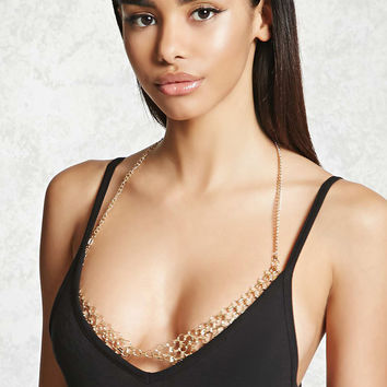 Circle Link Bralette Body Chain