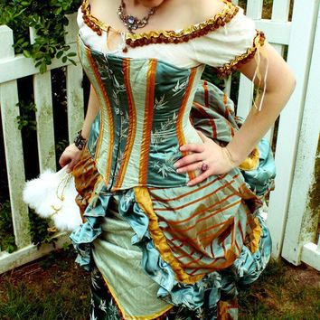 1880s Wild West Victorian Dress and Corset by MJVOCouture on Etsy