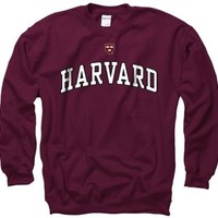 Harvard Crimson Adult Icon Crewneck Sweatshirt - Maroon , Large