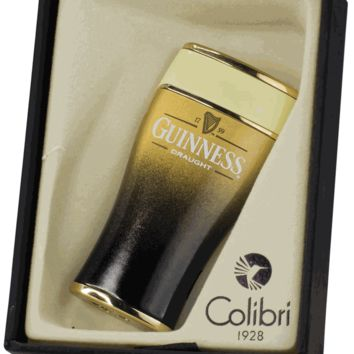 Guinness Single Torch Lighter with Tall Beer Glass Design