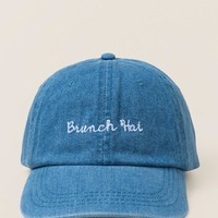 Brunch Hat Denim Baseball Cap