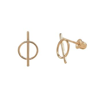 10k Solid Gold Split Circle Studs