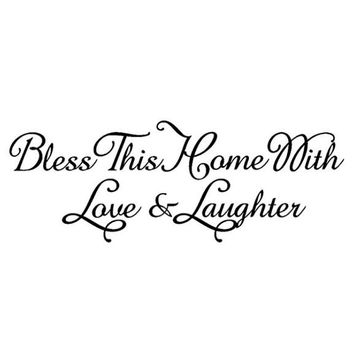 Bless This Home Removable Room wall stickers