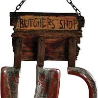 halloween decorations: butcher shop sign