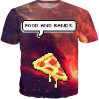 Food And Bands Pizza T-shirt