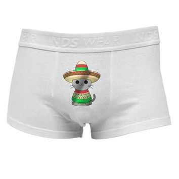 Sombrero and Poncho Cat - Metallic Mens Cotton Trunk Underwear by TooLoud