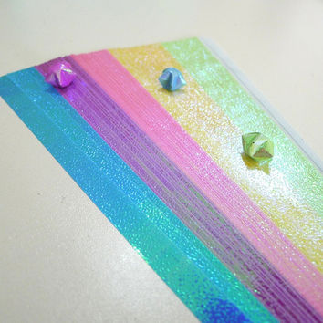 Flourescent Pearlescent Spring Shower (5 colors) Origami Lucky Star Paper Strips - pack of 90 strips