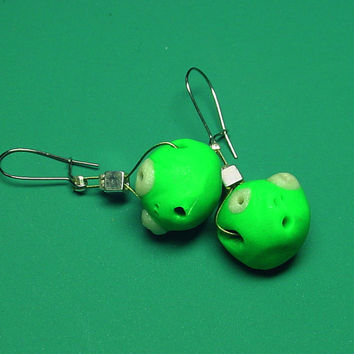 40 Off SaleHandmade Alien Bead Earrings Martian by BrandonArtists