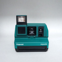 Polaroid 600 Green Impulse Instant Film Camera Takes Impossible Project Film!