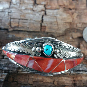 Museum Award Native American Navajo Silversmith Helen Long Spiny Oyster Sleeping Beauty Silver | Fundraiser for Animal Rescue & Pet Therapy