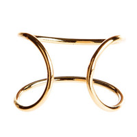 Delicate Open Wire Ring in Gold