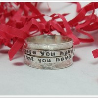 Double Spinner Ring Personalized Sterling by CharitableCreations