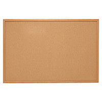 Quartet Natural Cork Bulletin Board With Oak Frame 36 x 24 by Office Depot