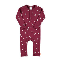 TinyCottons Long Sleeve Marshmallow Purple Jumpsuit