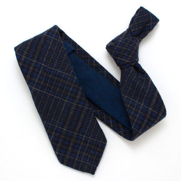 Emerald Blue Check & Herringbone Necktie