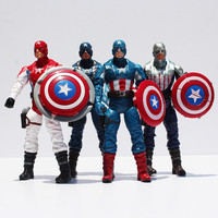 4Pcs/Set 18cm The Avengers Figures Captain America PVC Action Figure Toy Dolls 4Styles Great Christmas Gift