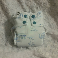 Nursery Rhymes All In One (AIO) Cloth Diaper - One-Size or Newborn, S, M, L