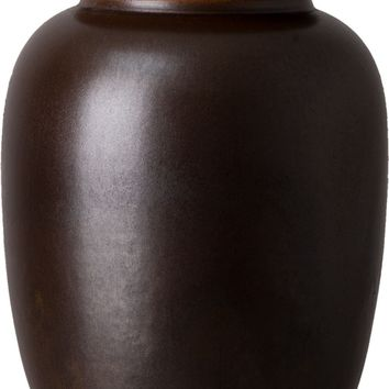 Large Japanese Tea Canister With A Smokey Matte Glaze