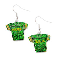 Green Bay Packers Women's Glitter Jersey Earrings