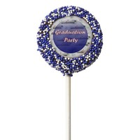 Graduation Party Blue Diploma Streamer Cookie Pops Chocolate Dipped Oreo Pop