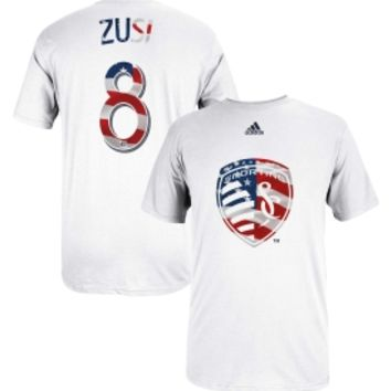 adidas Men's Sporting KC Graham Zusi #8 Red, White and Blue T-Shirt - Dick's Sporting Goods