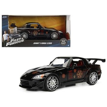 Johnny\'s 2001 Honda S2000 Black \Fast&Furious\ 1:24 Diecast Model Car