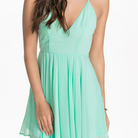 Green T Back Layered Mini Skater Dress