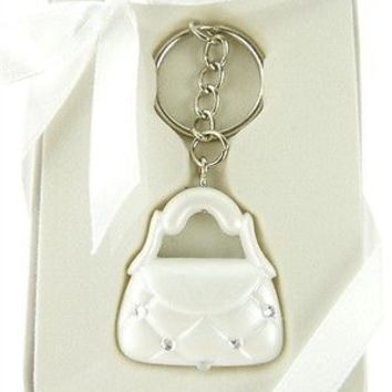 Wedding Bridal Shower Anniversary Party Favor Souvenir Gift Keepsake Ready Made, Key Chain, Beauty Purse