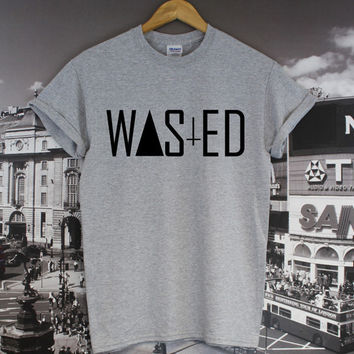 WASTED YOUTH TOP COMME DES FUCKDOWN HIPSTER TRIANGLE CROSS INVER DOPE T SHIRT