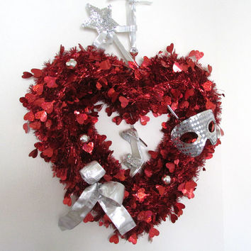 Red Heart Fairytale Love, Valentine Heart, Romantic Decoration