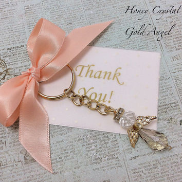 12pcs thank you keychain card