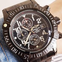 BREITLING 2019 new men's personality fashion high-grade quartz watch Black