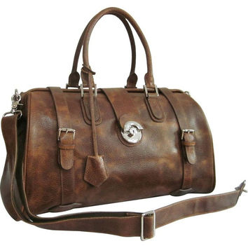 Men's Leather LEATHER DUFFEL BAG FOR MEN