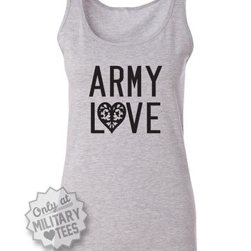Army Love, Army Tank Top Shirt, Military Army Wife, Fiance, Girlfriend, Workout