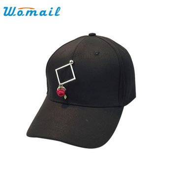 Womail Rose Flowers Summer Women's Baseball Caps Women Fashion Adjustable Caps Snapback Hat for women 2017 #20 Gift 1pc