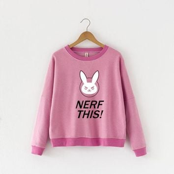 Overwatch Dva Nerf This Pink Pullover Sweater