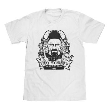Breaking Bad Say My Name Shirt White Available in Adult & Youth Sizes
