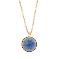 Round Ceramic Long Pendant Necklace | Blue | Accessorize