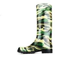Chemistry Women's Knee-high Jelly Rain Boots Camouflage