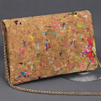 Cork Cross Body 3 Compartment Handbag