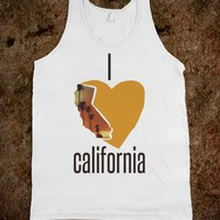CALIFORNIA HEART PALM TREE DESIGN