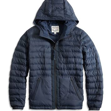 Lucky Brand Hooded Puffer Jacket Mens