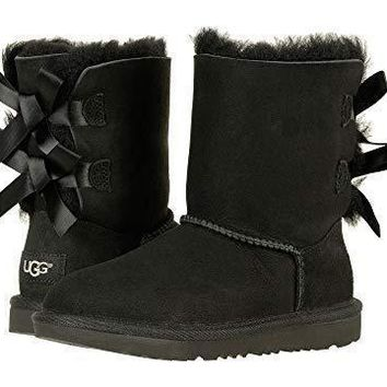 UGG Bow Leather Shoes Boots Winter Half Boots Shoes-4