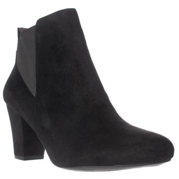 BCBGeneration Dolan Heeled Chelsea Ankle Boots, Black, 9.5 US